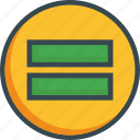 equal, equasion, math, result icon