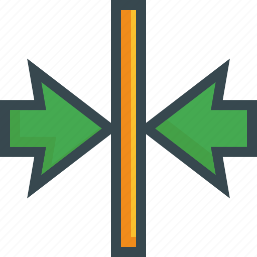 align, arrow, center, format, horizontal, middle icon