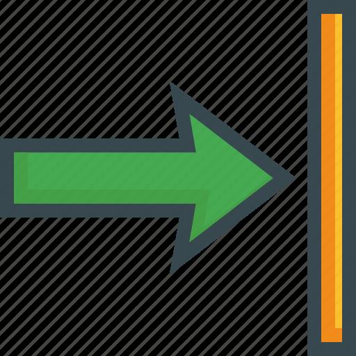 align, arrow, format, horizontal, right icon