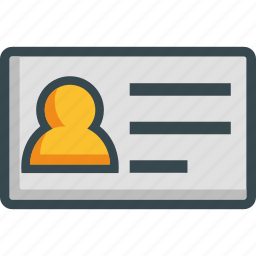 adresscard, card, client, club, id, identification icon