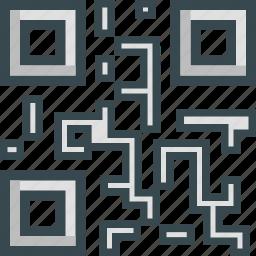 code, qr, scan, scanner, tech icon