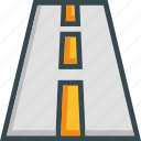 highway, lane, road, trip, way icon