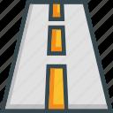 highway, lane, road, trip, way