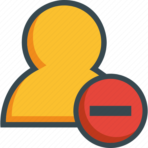 avatar, close, delete, human, minus, person, user icon