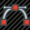 curve, design, nodes, shape, vector illustration