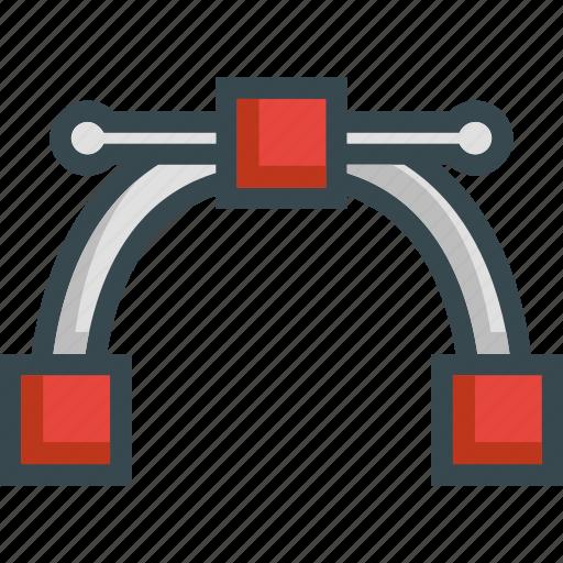 curve, design, nodes, shape, vector illustration icon