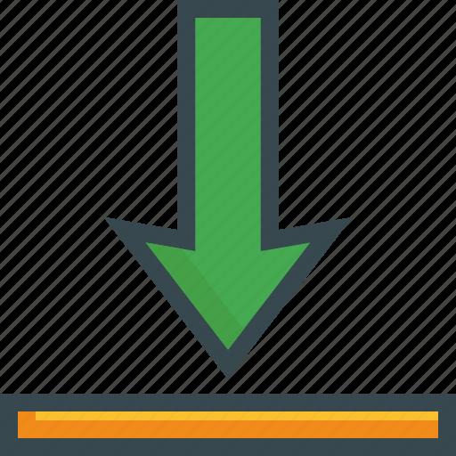 align, arrow, baseline, bottom, format, vertical icon