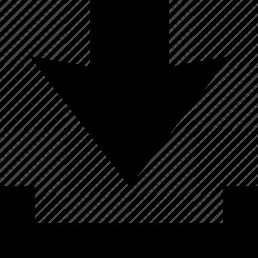 arrow, down, download, guardar, import, save, storage icon