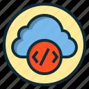 botton, calculator, cloud, data, storage icon