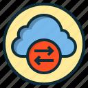 botton, cloud, data, download, internet, online, web icon