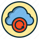 botton, cloud, data, file, internet, web icon