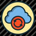 botton, cloud, data, internet, web icon