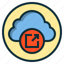 botton, cloud, data, internet, online, web icon