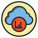 analysis, botton, chart, cloud, data, graph, statistics icon