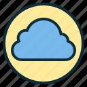 botton, cloud, data, idea, web icon