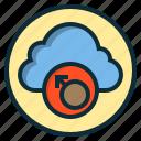 botton, cloud, male, online, sign, user, web icon