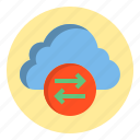botton, cloud, data, download, web icon