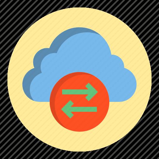 botton, cloud, data, download, web icon