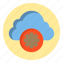 botton, cloud, gear, web icon