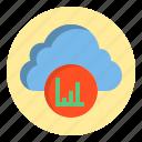 botton, cloud, data, graph icon