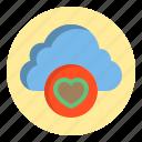 botton, cloud, heart, love icon