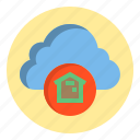 botton, cloud, home, web icon