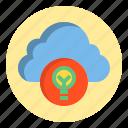 botton, cloud, idea, lamp icon