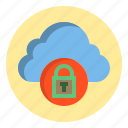botton, cloud, key, lock icon
