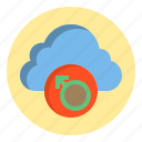 botton, cloud, male, sign, web icon