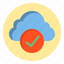 botton, cloud, success, web icon