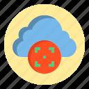 botton, cloud, target, web icon