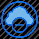 botton, cloud, delete, web icon