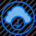 botton, cloud, download, web icon