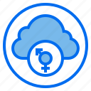 and, botton, cloud, female, male, sign, web icon