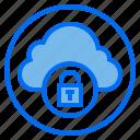 botton, cloud, key, lock icon