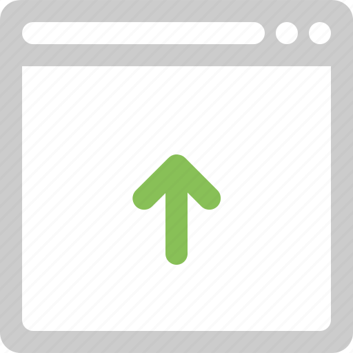 browser, internet, network, online, upload, web icon