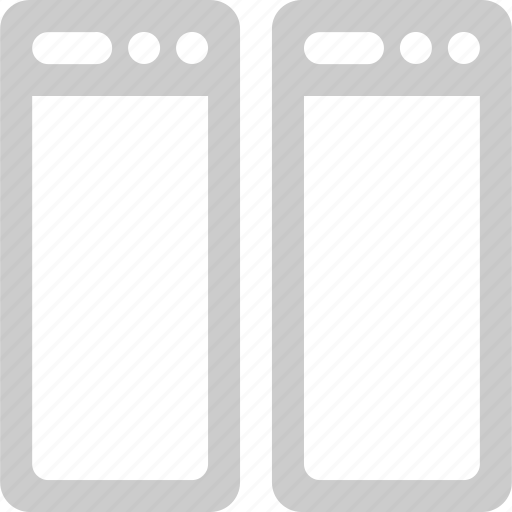 browser, internet, network, split, vertical, web icon