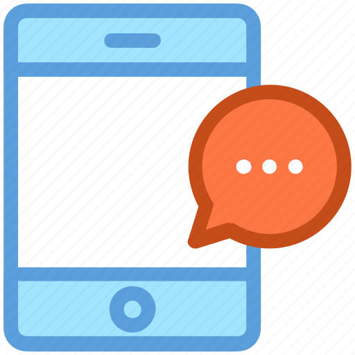 chat bubble, chatting, communication, mobile, mobile chat icon