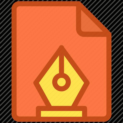 design file, handwriting, paper, pen, writing icon