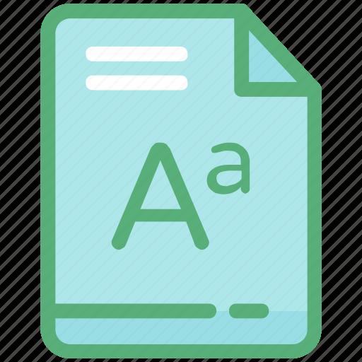 document, file, font, keywording, text document icon