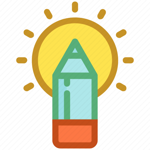 Crayon, draw, pencil, stationery, write icon - Download on Iconfinder