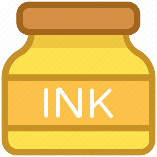 calligraphy, ink, ink bottle, inkpot, writing icon