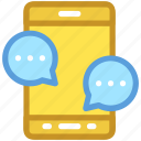 chat bubble, chatting, communication, mobile, mobile chat
