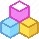 cubes, cubic pattern, design element, hexagonal pattern, hexagons icon