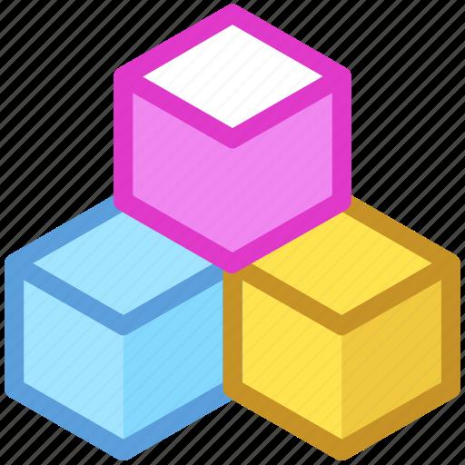 cubes, cubic pattern, design element, hexagonal pattern, hexagons icon