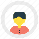 business, man, profile, user icon icon