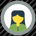 avatar, human, user, women icon icon