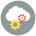 cloud, cog, gear icon icon