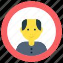 business, man, profile, user icon icon