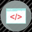 code, html, page, web icon icon